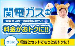 2017年4月1日スタート!!関電ガスなら大阪ガスの一般料金に比べて料金がおトクに!!今ならご契約者さま限定キャンペーン実施中!!